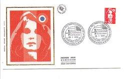 FDC 1990 MARIANNE DE BRIAT - FDC