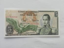 COLOMBIA 5 PESOS ORO 1980 - Colombia