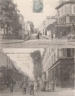 2 CPA:CHOISY LE ROI (94) RUE DE VITRY ANIMÉE,AVENUE D'ALFORTVILLE..ÉCRITES - Choisy Le Roi