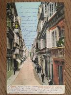 CPA, ESPAGNE, CADIZ,  Calle Duque De Jetuan, écrite En 1904, Timbre, Animée - Cádiz