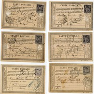 6 X CPP 10C SAGE U/N 15C U/B ET U/N SUR CPP JOLI LOT .   A SAISIR VOIR SCANS INDIVIDUELS - 1877-1920: Periodo Semi Moderno
