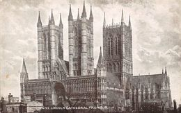 """Lincoln Cathedral From S.W. """"Sepiatone"""" 1918 - Angleterre"""