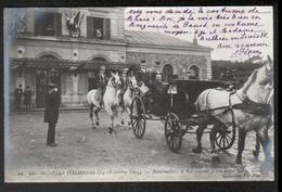 75, Paris, N°44, Les Journees Italiennes, Rambouillet, Le Roi Saluant à Son Depart De La Gare - Autres