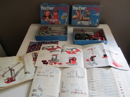 Lot De 2 Boites Ancienne Fishertechnik  50 Et 50 S, Années 1970, Surement Incomplète Car Utilisée Avec Boite + Notice - Fischertechnik