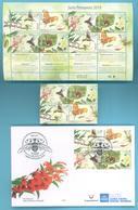 NEW! Uruguay  Papillon Printanier Oiseau Colibri Abeille Insecte Abeille Fleurs D'arbres Set+sheet+FDC+GIFT - Colibris