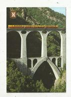 Cp, Chemin De Fer , Le Petit Train Jaune Sur Le Pont SEJOURNE ,la Cerdagne,  Vierge - Trains