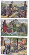 Lot De 6 Cartes Postales Sur La Guerre De 14/18 Avec Publicité Pour Dubonnet. Voir Les Scans - Cartoline