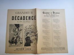Partition Musicale Grandeur Et Décadence De Mme HUMBERT De Antonin Louis - Partitions Musicales Anciennes