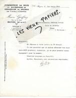 54 - Meurthe-et-moselle - BAYON - Facture GEOFFROY - Commerce De Bois, Débardage De Grumes - 1941 - REF 124C - 1900 – 1949