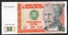 PERU P131b 50 INTIS   26.6.1987     UNC. - Perú