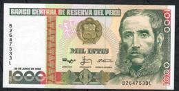 PERU P136b 1000 INTIS   28.6.1988     UNC. - Perú