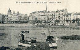 83  SAINT RAPHAEL   LA PLAGE ET LES BAINS PECHEURS D'OURSINS - Saint-Raphaël