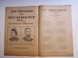 Partition Musicale  Les étrennes Des  HUMBERT DAURIGNAC Paroles Du Baron Poilu De Mystieh - Partitions Musicales Anciennes