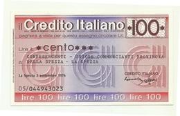 1976 - Italia - Credito Italiano- Confesercenti - Unione Commercianti Provincia Della Spezia - La Spezia - [10] Scheck Und Mini-Scheck