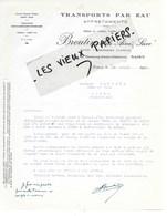 54 - Meurthe-et-moselle - NANCY - Facture BROUTIN - Transports Par Eau, Affrètements - 1930 - REF 124C - 1900 – 1949