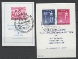 DDR , Block 10+11 Mit Sonderstempel ( 80.-) - [6] Democratic Republic