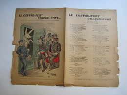 Partition Musicale Affaire HUMBERT - Le Coffre-fort Craque Fort De Melle D'Aurignac - Partitions Musicales Anciennes
