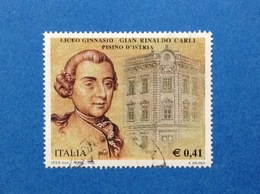 2003 ITALIA FRANCOBOLLO USATO STAMP USED LICEO GINNASIO CARLI - 6. 1946-.. Republik
