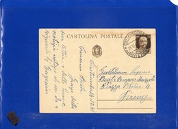 ##(DAN1911/1)Italia25-1-1941-Cartolina Postale Cent.30 Da Civitavecchia Per Firenze Annullo Giorno Di Natale,altri Tempi - Marcophilie