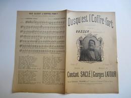 Partition Musicale Affaire HUMBERT - Ousqu'est L'coffre-fort Par VASSER Aux Ambassadeurs Musique G. Latour - Partitions Musicales Anciennes