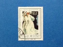 2003 ITALIA EUROPA ARTE DEI POSTER 0,52 FRANCOBOLLO USATO ITALY STAMP USED - 6. 1946-.. Republik