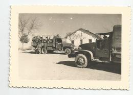 Photographie Guerre D'algérie Secteur Ain Zana 1959 Camion  Véhicule Militaire Photo 7,2x10,4 Cm Env - Krieg, Militär