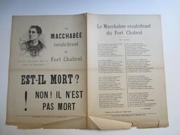 Partition Musicale Fort Chabrol Le Macchabee Récalcitrant. Est Il Mort ? Par CHAILLET Dans Les Cabarets De Montmartre - Partitions Musicales Anciennes