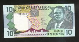 SIERRA LEONE - BANK Of SIERRA LEONE - 10 LEONES (1988) - Sierra Leone