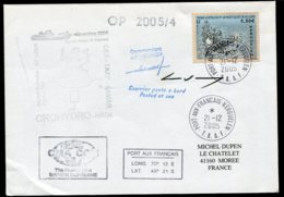15737 T.A.A.F  N°432°(issu Du BF13) Mission CROHYDRO OP 2005/4   Kerguelen  Du 21.12.2005   TB - Terres Australes Et Antarctiques Françaises (TAAF)
