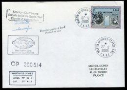 15738 T.A.A.F  N°433°(issu Du BF13) Marion Dufresne Escale à L'ile De Saint Paul OP 2005/4 Saint Paul Du 27.12.2005   TB - Terres Australes Et Antarctiques Françaises (TAAF)