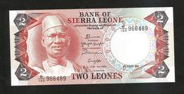 SIERRA LEONE - BANK Of SIERRA LEONE - 2 LEONES (1985) - Sierra Leone