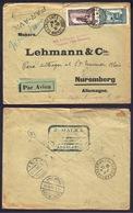 Marruecos Carta De Casablanca A Nuremberg 1930 Via París - Sin Clasificación