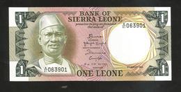 SIERRA LEONE - BANK Of SIERRA LEONE - ONE LEONE (1984) - Sierra Leone