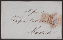 Francia Frontal De París A Madrid 1849 - Postales