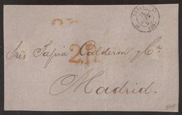 Francia Frontal De París A Madrid 1852 - Postales