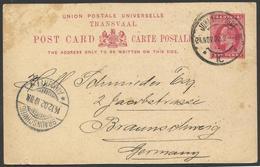 Transvaal Postal De Johanesburgo A Braunschweig 1902 - Sin Clasificación