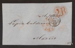 Francia Frontal De Paris A Madrid 1852 - Postales