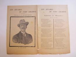Partition Musicale Les Affamés Du Fort Chabrol  Paroles De Spartacus - M. Jules Guérin - Scores & Partitions