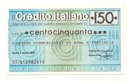 1976 - Italia - Credito Italiano - Unione Commercianti Di Roma E Provincia - [10] Assegni E Miniassegni