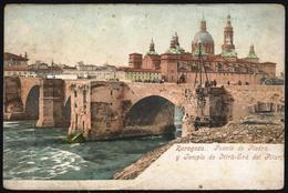 España Spain Postal Antigua Zaragoza - Puente De Piedra Purger & Co. München - Cartes Postales