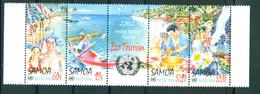 Samoa 2002 Tear Of Eco Tourism Strip Of 4v + Label Zrf Se-ten MNH - Samoa