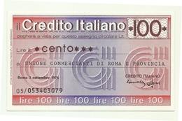 1976 - Italia - Credito Italiano - Unione Commercianti Di Roma E Provincia - [10] Scheck Und Mini-Scheck