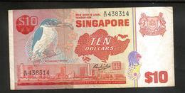 SINGAPORE - 10 DOLLARS / White Collared Kingfisher - Singapore