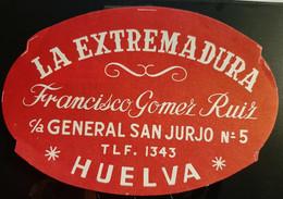 HOTEL RESIDENCIA EXTREMADURA ARACENA HUELVA SPAIN ETIQUETA LUGGAGE LABEL ETIQUETTE AUFKLEBER TAG DECAL STICKER MADRID - Hotel Labels