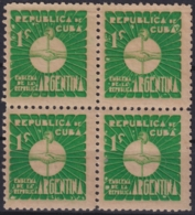 1937-341 CUBA REPUBLICA 1937 Ed.305 1c MNH ARGENTINA WRITTER & ARTIST. ESCRITORES Y ARTISTAS BLOCK 4. - Kuba