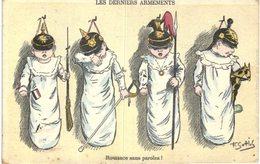 SOTTOLE ..... LES DERNIERS ARMEMENTS ... CARTE ANTI GERMANIQUE - Illustrators & Photographers