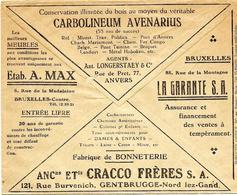 LE 0332. CCP. Lettre PUBLICITAIRE 1932. Au Dos CARBONLINEUM AVENARIUS, Ets CRACCO Fr., Etab. A. MAX, La Garante SA - Cartas