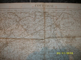 Topografische / Stafkaart Van Kortrijk (Hulst - Bavikhove - Ooigem - Wortegem - Oudenaarde - Avelgem - Bellegem ) - Cartes Topographiques