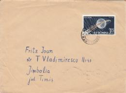 SPUTNIK 3 SATELLITE, STAMPS ON COVER, 1972, ROMANIA - Cartas