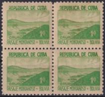 1937-344 CUBA REPUBLICA 1937 Ed.306 1c LM BOLIVIA WRITTER & ARTIST. ESCRITORES Y ARTISTAS. - Kuba